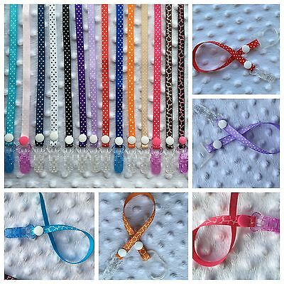 Soother dummy clip holder strap chain polka dots**Buy 3 get 1 free*limited offer
