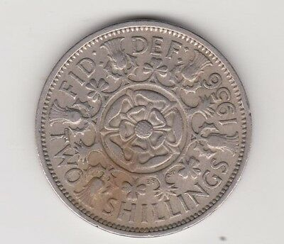 1956 UK  Two Shillings coin QE