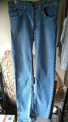Solid denim, classic 603 jeans by 'Levi Strauss' W35 L34 approx size 16