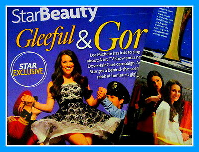 LEAM MICHELE GLEE  2 Page Magazine CLIPPINGS  Feature  Photo from Australia