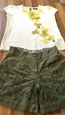 Girls M&S summer set shorts and top size 4-5 years