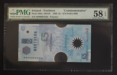 1999 Northern Ireland £5 Pounds Millenium Commemorative Issue P203a  ~ PMG