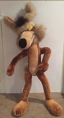 Wile E. Coyote 1991 Warner Bros Plush Stuffed Poseable 28""
