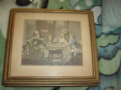 Antique Victorian Picture Frame Wood and Glass with Mirror Jewelry Box