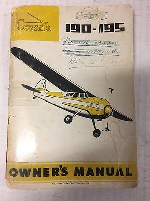 Cessna 190/195 Owners Manual