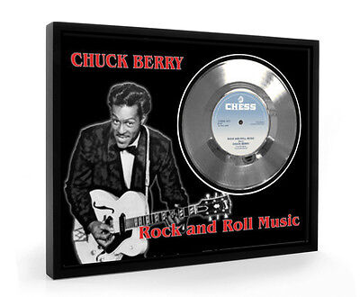 Chuck Berry Rock And Roll Music Framed Silver Disc Display Vinyl (C1)