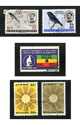stamps ETHIOPIA A74(2) A98 A166(2) LOT