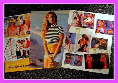 NIKI KRISSY TAYLOR Supermodel Magazine 4 Pg  CLIPPINGS Feature Photo 1990's