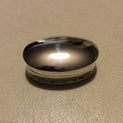 Vintage Smooth Oval Sterling Silver 925 Box Pill Trinket Jewelry Ring Earrings