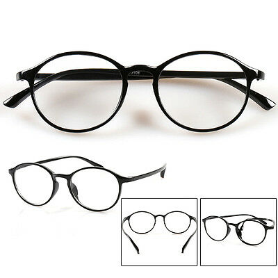 Old-fashioned Round Frame Reading Glasses TR90 Eyeglasses +1.0 to +4.0