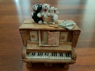 Cats Choir On A Piano Ornament