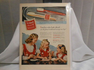 Dr. Wests Miracle Tuft 11X14 Advertising Print Ad
