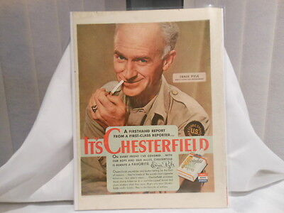 Chesterfield Cigarettes 11X14 Advertising Print Ad
