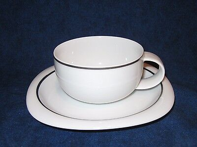 Rosenthal Lanka Suomi Cup and Saucer with Platinum Band