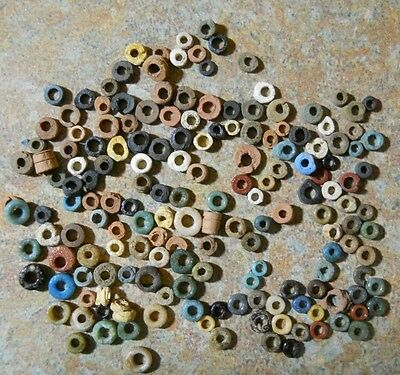 150 Egyptian Beads 2000+ Yr Old-Assortment As Shown Free Postage