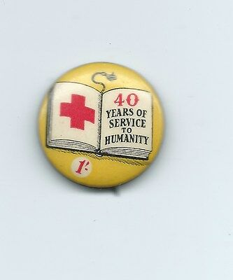 Red Cross badge - 40 Years of Service 1954?