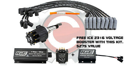 ICE Ignition NEW 7 AMP 1 STEP Kit with REV LIMITER - Ford Cleveland V8, Carb