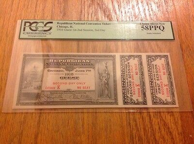1916 Republican National Convention Ticket Governor Charles Evans Hughes PCGS 58