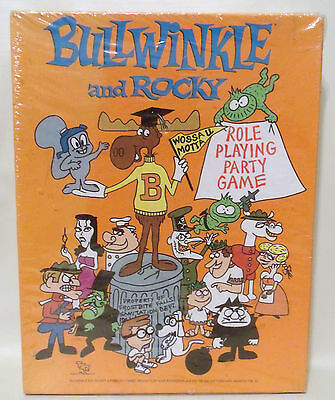 New Bullwinkle And Rocky Role Playing Party Game Tsr 1988 Sealed Rpg Vintage Nib