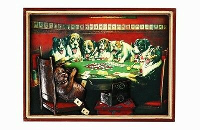 Ram R169 Poker Dogs Under Table Pub Sign 3D Art w/ FREE Shipping