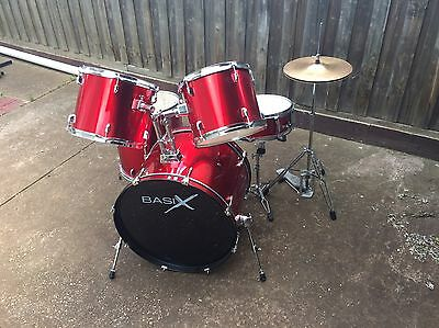 5 piece beginners drum Kit (Basix)