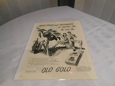 Old Gold Cigarettes  11X14 Advertising Print Ad