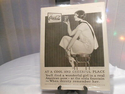 Coca Cola  11X14 Advertising Print Ad 1925 The Ladies Home Journal