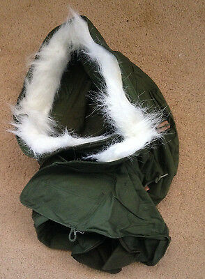 ~Mint Genuine Us Military Issue M65 M51 Extreme Cold Weather Hood Synthetic Fur