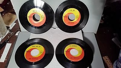 4 BEATLES 45 RPM Capitol Records