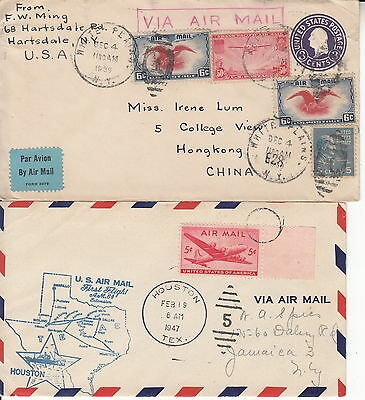 USA: Commemorative Airmail Covers from 1930s-1940s