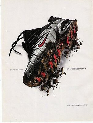"""2001 Nike 'Air Crested Butte"""" """"Enjoy The Weather"""" Running Shoe Print Advert"""