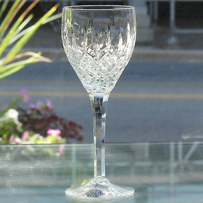"SHAFTESBURY Stuart crystal WINE 6.75"" tall made in England NEW NEVER USED"
