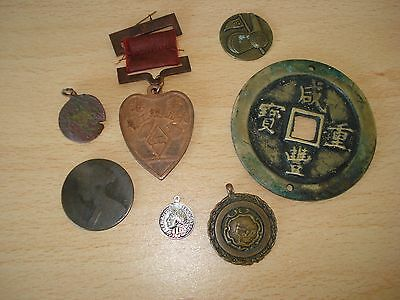 Mixed lot of coins/medals