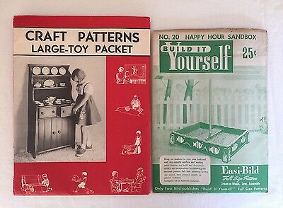 Vintage Woodworking Patterns for 11 Large Toys Build It Yourself