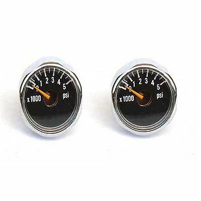 New 2 x 5000 PSI Paintball Micro Gauge