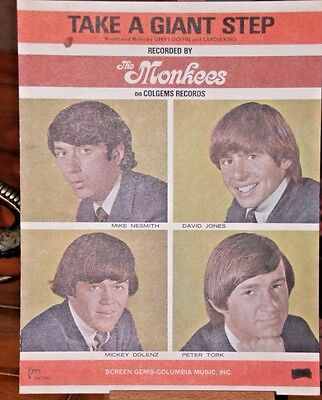 Take A Giant Step  - The Monkees - Sheet Music 1966