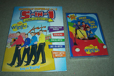Set of Wiggles Items - 5-in-1 Coloring & Activity Book & DVD - Paperdolls (NEW)