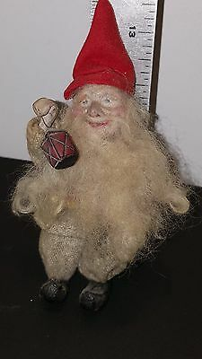 Antique German Santa Claus Hand Painted Clay Face Vintage Christmas