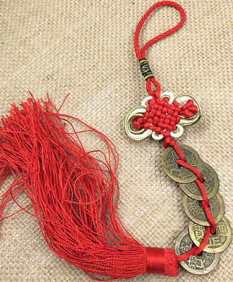 China excellent brass sculpture hang adorn fengshui Chinese knot hanging drop y1