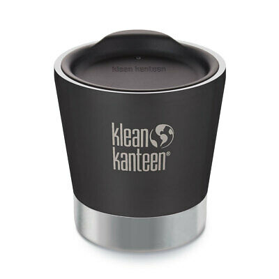 New Klean Kanteen 8Oz 237Ml Insulated Vacuum Tumbler Shale Black Free Post