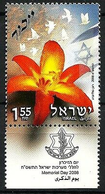 Israel 2008 Stamp 'memorial Day For Fallen Soldiers'. Mnh +  Tab.