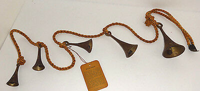 Vintage Brass Sets of Bells of Sarna India  Brass Bell  with tag dated1955