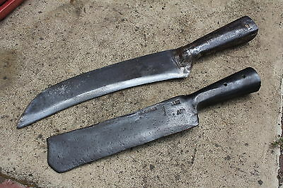 2 x Vintage Brushcutters: Trojan & A.W Wills.                 Axe