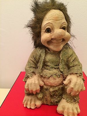 Vintage Scandinavian Troll Norwegian Swedish Figure Folklore Doll Sweden Norway
