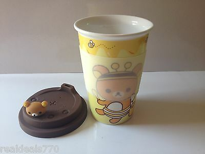 Rilakkuma - Hello Kitty & Friends Bee 1, Thermal Porcelain Cup and Silicon Lid