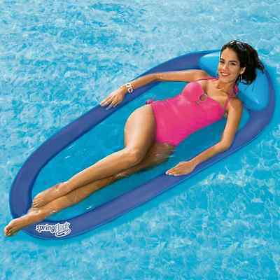 Floating Pool Mat Mattress Lounge Inflatable Mesh Bed Water Hammock Chair NEW