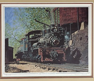 JAMES FINNELL Print Last Train To Tuolumne Matted 1987 Signed Numbered