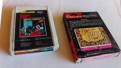 8 Track Cassettes - Credence Clrwtr Revl-Cosmo's Factory & 3 Dog Night
