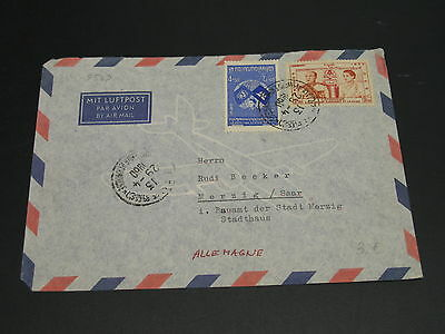 Cambodia 1960 airmail cover to germany *9539
