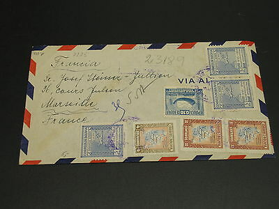 Bolivia 1947 registered airmail cover to France *9225